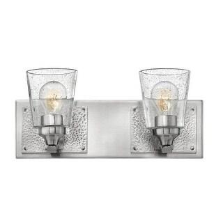 "Hinkley Lighting 51822 Jackson 2 Light 16-1/4"" Wide Bathroom Vanity Light with Seedy Glass"