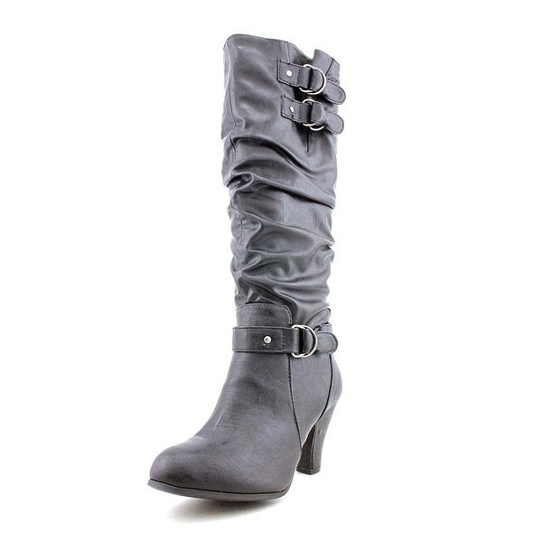 Rampage Womens Eleanor Almond Toe Mid-Calf Fashion Boots