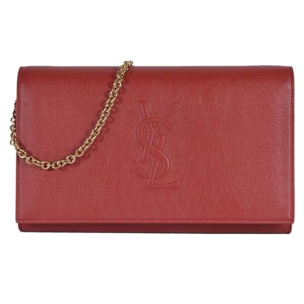 0fa24fb1f9d Saint Laurent YSL Red Leather Belle de Jour Crossbody Wallet Purse Bag