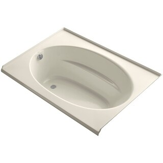 """Kohler K-1113-L Windward Collection 60"""" Drop In Three Wall Alcove Soaking Bath Tub with Left Hand Drain - White"""