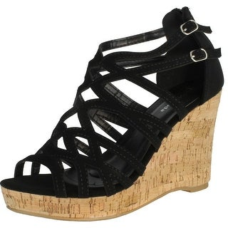 Top Moda Women's Blow-28 Wedge Sandals - Beige - 10 b(m) us