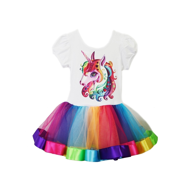 S wenchoice Girls Rainbow Tutu 1T-2T