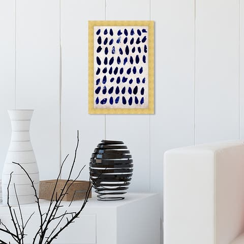 Oliver Gal 'Marismas' Abstract Wall Art Framed Print Paint - Blue, White