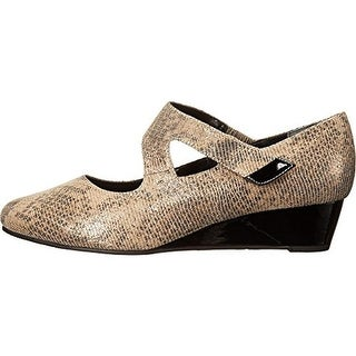 Rose Petals by Walking Cradles Womens Aubrey Mary Janes Leather Shimmer