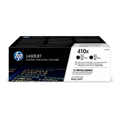 HP 410X Black Original LaserJet Toner Dual Cartridge (CF410XD)(Single Pack)