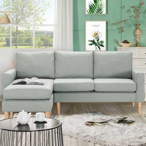 TiramisuBest Relax Lounge Sectional Sofa with ottoman, Left Facing