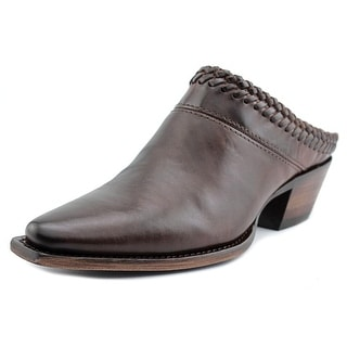 Lucchese Mimi Women Pointed Toe Leather Brown Mules