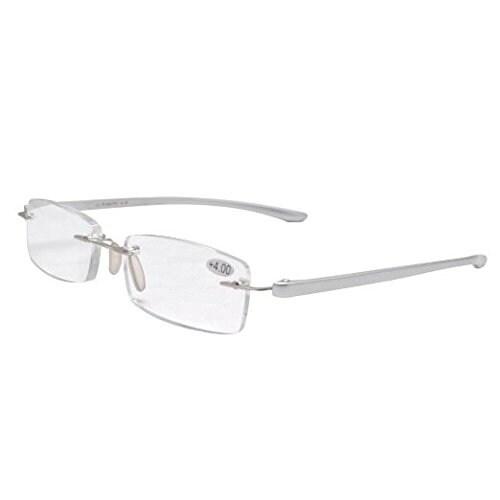Eyekepper Readers Small Lenes Rimless Reading Glasses Silver Men Women