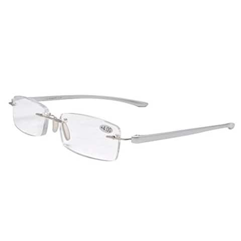 Eyekepper Readers Small Lenes Rimless Reading Glasses Silver Men Women