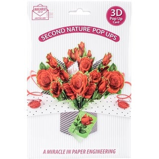 With Love Rose Bouquet - Pop-Up 3D Greeting Card 1/Pkg