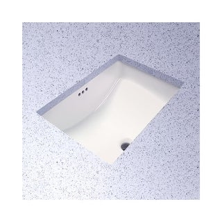 """PROFLO PF1812U Rectangular 19"""" Undermount Bathroom Sink - N/A"""