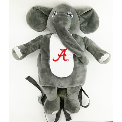 "12"" Red and White Alabama Plush Mascot Backpack"