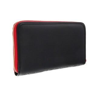 Versace EE3VOBPO2 E899 Black/Red Multifunction Wallet - 7.25-4-1.25