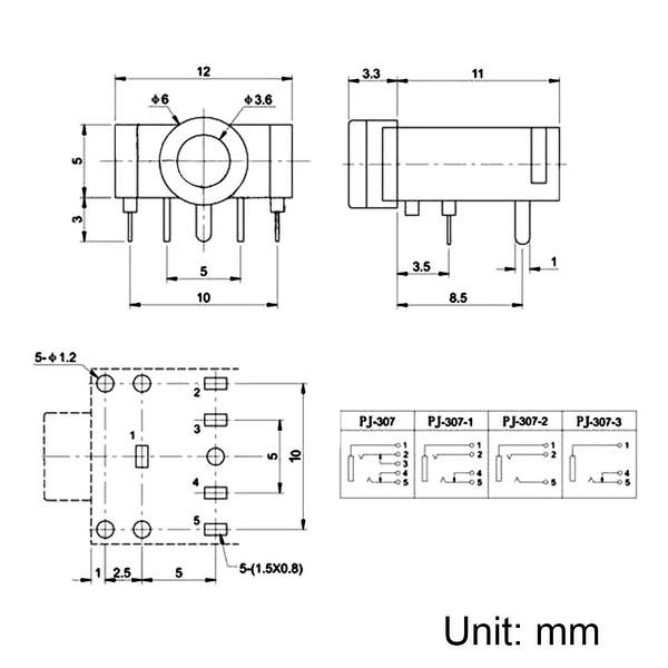 5 Pin 3 5mm Female Jack Wiring Diagram    Diagram Female