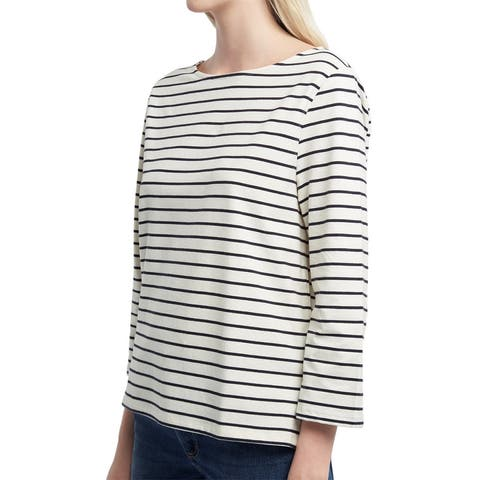 French Connection Tim Tim Stripe 3/4-Sleeve Knit Top
