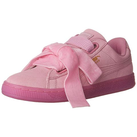Puma Womens Suede Heart Reset Low Top Lace Up Fashion Sneakers