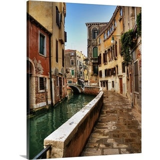 Premium Thick-Wrap Canvas entitled A quiet canal in Venice, Italy