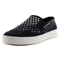 Michael Kors Womens KEATON Leather Low Top Slip On Fashion Sneakers