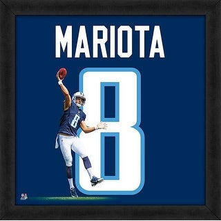 Marcus Mariota Framed Tennessee Titans 20x20 Jersey Photo