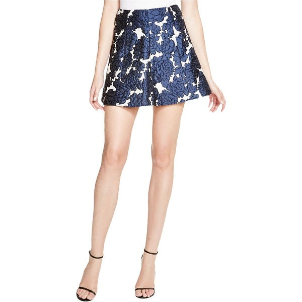 Lucy Paris Womens A-Line Skirt Jacquard Brocade