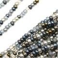 Czech Seed Beads Mix Lot 11/0 Heavy Metals Grey/Blue/Metallics - 1/2 Hank - Thumbnail 0