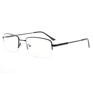 Eyekepper Mens Half-rim Reading Glasses Memory Readers With Bendable Titanium Bridge And Temple (Black,+3.00)