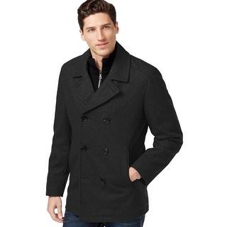 INC International Concepts Wool Blend Bib Peacoat Black Solid X-Large