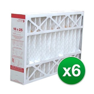 Replacement Pleated Air Filter for For Honeywell F100F2002 HVAC 16x25x4 MERV 11 (6 Pack)