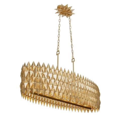 Varaluz Forever 8-light French Gold Linear Pendant