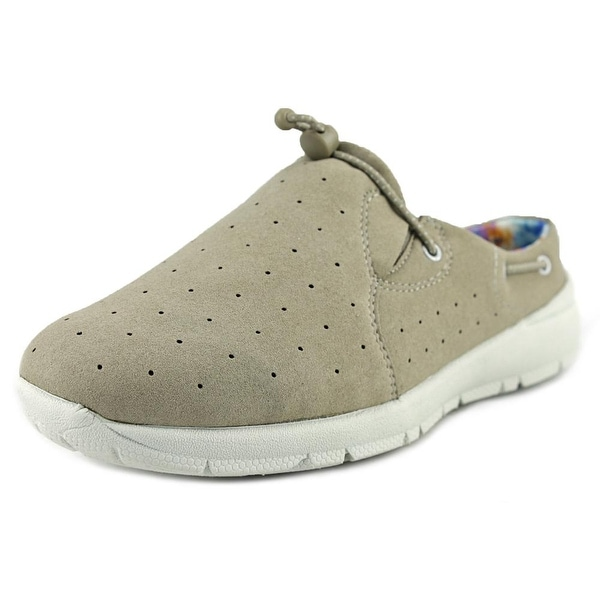 Easy Spirit Gosteady Women N/S Round Toe Canvas Tan Loafer