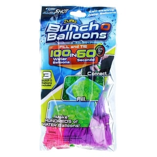 Bunch O Balloons: Pink, White & Purple 3-Pack, 100 Balloons Total