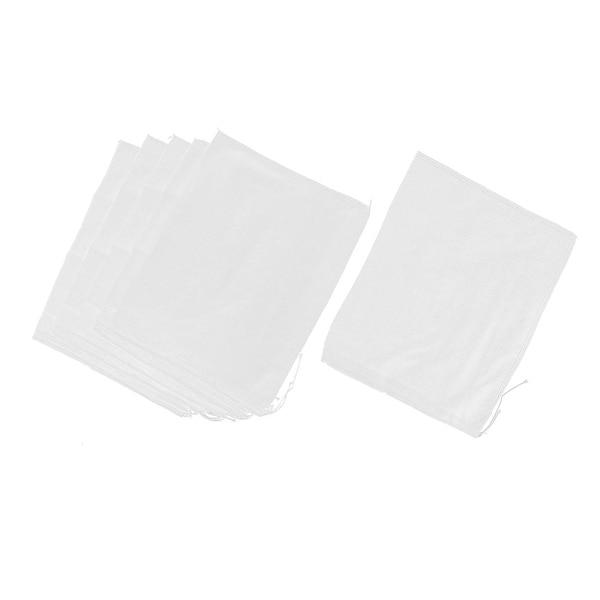 "Drawstring Seal Soup Food Filter Mesh Bag 14 Inch x 11 Inch 6 Pcs - White - 14"" x 11""(L*W). Opens flyout."