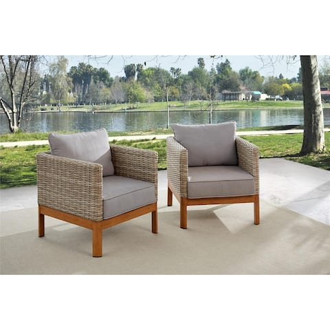 Avenue Greene Tan/ Grey Patio Lounge Chairs, 2 Pack