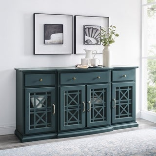 Link to Copper Grove Loches Breakfront Fretwork Sideboard Similar Items in Living Room Furniture