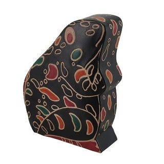 Colorful Embossed Leather Frog Hand Crafted Coin Bank