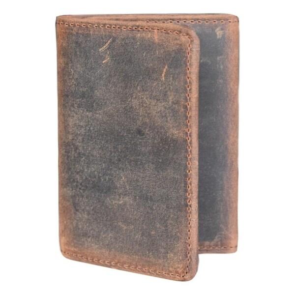 Lejon Western Wallet Mens Yuma Trifold Leather Chocolate