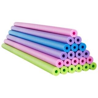 Costway 24 Pack 55 Inch Foam Pool Swim Noodles Super Buoyancy Floating - Green, purple, pink, blue