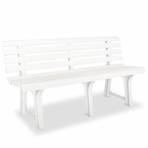 vidaXL Garden Bench Plastic Outdoor Bench Yard Furniture