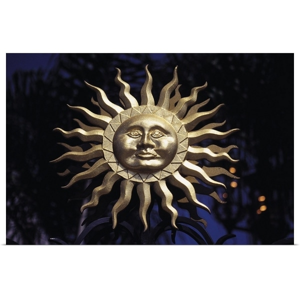 """""""sun with a face"""" Poster Print"""