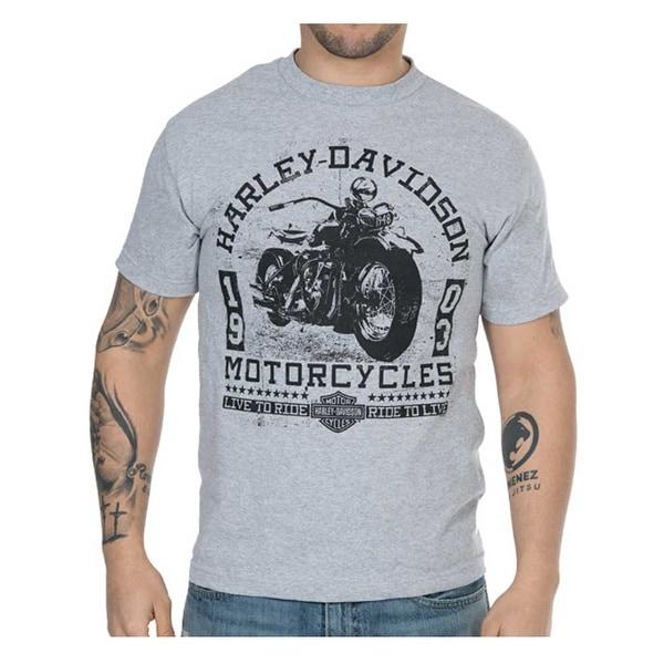 Harley-Davidson Men's Old Days Distressed Short Sleeve T-Shirt - Heather Gray