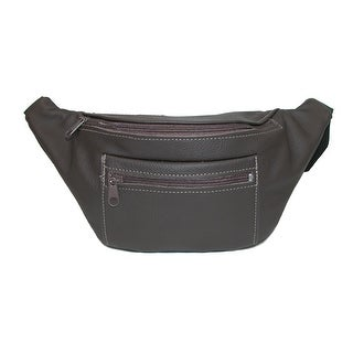 CTM® Leather Made in U.S.A. Waist Pack