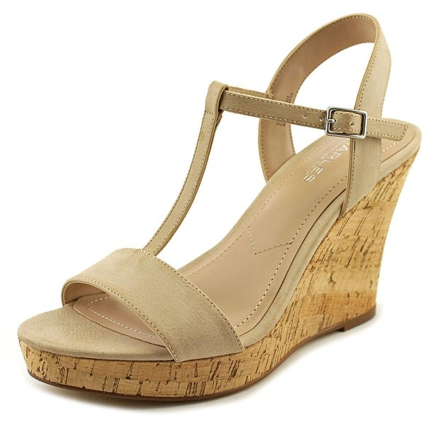Charles By Charles David Libra Women  Open Toe Synthetic Nude Wedge Heel