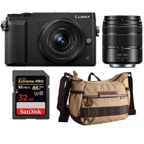Panasonic DMC-GX85WK Camera with 12-32mm & 45-150mm Lenses Bundle
