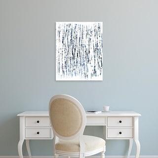 Easy Art Prints June Erica Vess's 'Indigo Ink Motif V' Premium Canvas Art