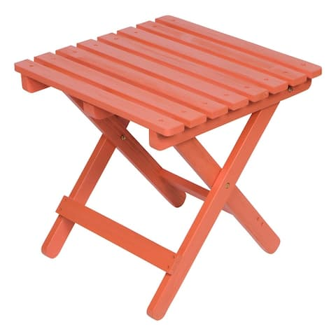 19 inch Square Adirondack Folding Table with HYDRO-TEX finish