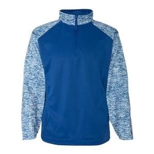 Badger Blend Sport Performance Fleece Quarter-Zip Pullover - Royal/ Royal Blend - XL