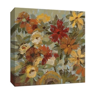 """PTM Images 9-153370  PTM Canvas Collection 12"""" x 12"""" - """"Whispering Garden II"""" Giclee Flowers Art Print on Canvas"""