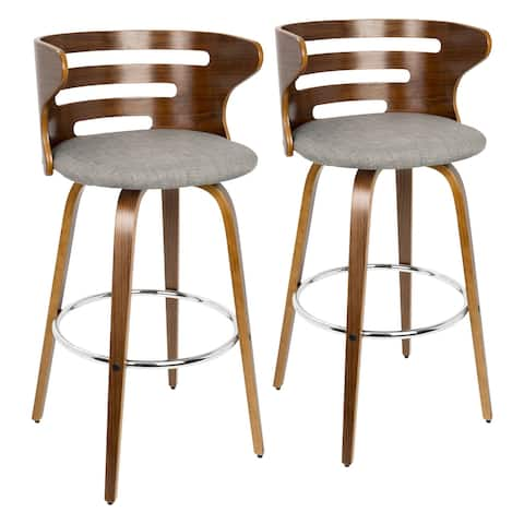 Carson Carrington Cranagh Mid-century Modern Upholstered Bar Stools (Set of 2) - N/A