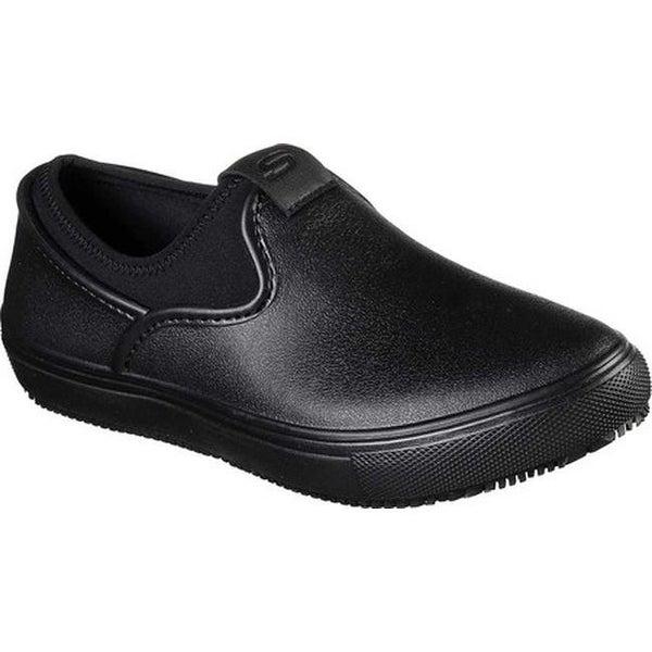 dc4d98a2387 Shop Skechers Women s Work Harleton Slip-Resistant Slip-On Shoe Black Black  - On Sale - Free Shipping Today - Overstock - 24322521