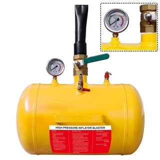Costway 5 Gallon Compact Air Tire Bead Seater Blaster Tool - YELLOW